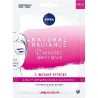 Urban Skin Radiance Sheet Mask, Nivea Sheet Masks