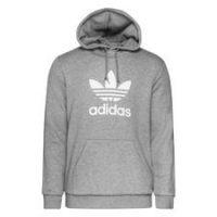 adidas Originals Hettegenser Trefoil - Grå/Hvit