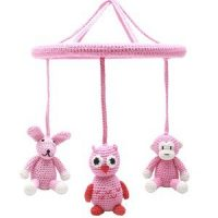natureZOO Rabbit, Owl and Monkey Circle Mobile 0 - 12 mnd