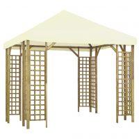 vidaXL Paviljong 3x3 m kremhvit