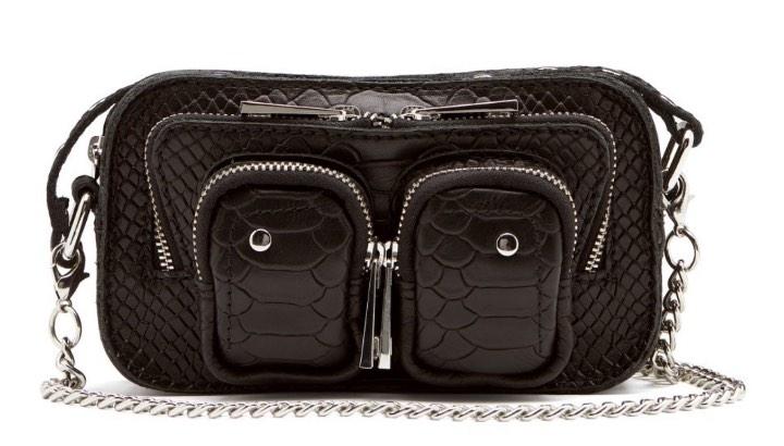 Helena Python Bag Black