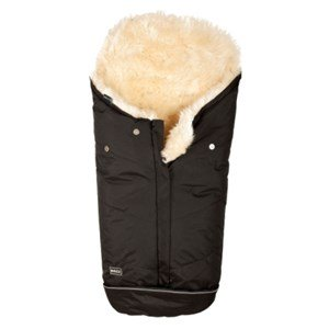 BOZZ Footmuff with Long-haired Lambskin Black/Champagne One Size