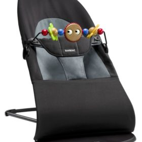 BabyBjörn Vippestol Balance Soft Svart/Grå inkl. Treleke