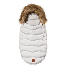 Buddy & Hope Faux Fur Footmuff Solid Grå One Size