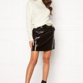ONLY Bella Faux Leather Skirt Black 42