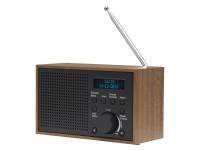 Denver DAB-46DARK GREY, Internett, Analog og digital, DAB+,FM, 2 W, LCD, Svart, Brun