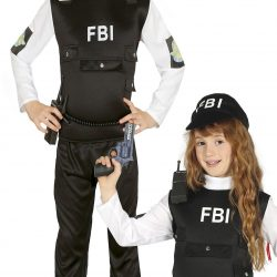 Fiestas Guirca Kostyme FBI-agent 7-9 År