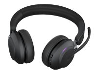 Jabra Evolve2 65 MS Stereo - Hodesett - on-ear - Bluetooth - trådløs - USB-A - lydisolerende - svart