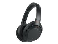 Sony WH-1000XM3 - Hodetelefoner - full størrelse - Bluetooth - trådløs - NFC - aktiv støydemping - 3,5 mm jakk - svart
