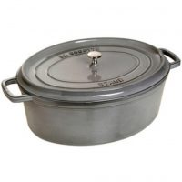 Staub Oval Gryte 33 cm 6,7 liter Grafittgrå
