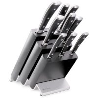 Wüsthof Classic Ikon Knivblokk med 9 Kniver Asp Svart