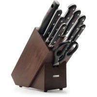 Wüsthof Classic Knivblokk med 9 kniver Asp Brunt