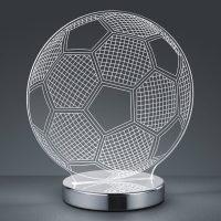 3D-hologram-bordlampe Ball – valgbar lysfarge
