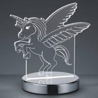 3D-hologram-bordlampe Karo med enhjørning
