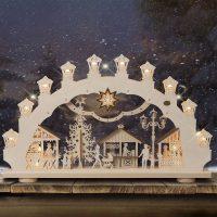 Adventsstake Julemarked - lys 3D, 2 motiver