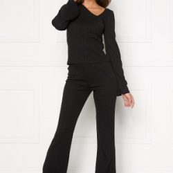 BUBBLEROOM Lesley rib trousers Black XL