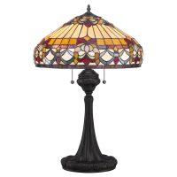 Bordlampe Belle Fleur i Tiffany-design