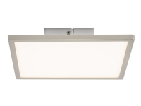 Brilliant Ceres - Taklampe - LED - total: 10 W - LED-klasse A+ - varmt hvitt lys - 3000 K - panel - hvit, jern