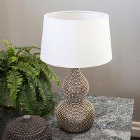 By Rydéns Lofty – bordlampe med tekstilskjerm