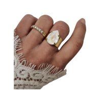 Classic Drop Ring Gold Light delite