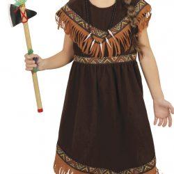 Fiestas Guirca Kostyme Indian Jente 5-6 År
