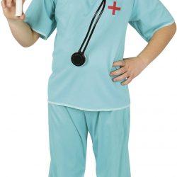 Fiestas Guirca Kostyme Kirurg 7-9 År