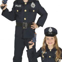 Fiestas Guirca Kostyme Politi 5-6 År