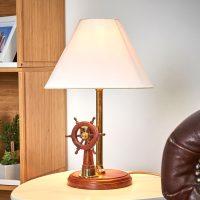 Flott bordlampe STEERING i tre