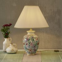 Håndmalt GIARDINO PANSE bordlampe på 40 cm
