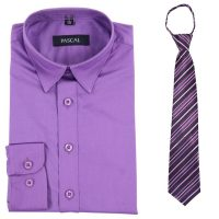 Lilla/lilla Pascal skjorte med slips