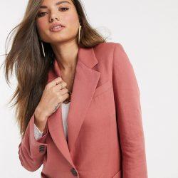 Mango campaign blazer in pink