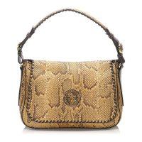Shoulder Bag Leather Python