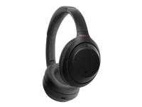 Sony WH-1000XM4 - Hovedtelefoner med mik. - fuld størrelse - Bluetooth - trådløs, kabling - NFC - aktiv støjfjerning - 3,5 mm jackstik - sort