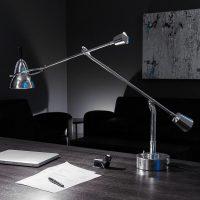 Tecnolumen Buquet LED-bordlampe forsølvet