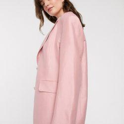 & Other Stories linen oversized blazer in light pink
