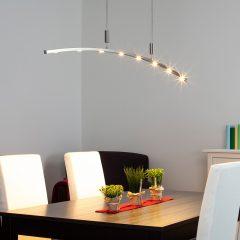 160 cm lang - LED-hengelampe Falo, høyderegulerbar