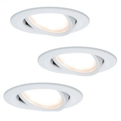 3-pakk LED innfelt lampe Coin Slim, hvit, IP23