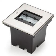 9 LED - Malte gulvspot med flex. Lysåpning