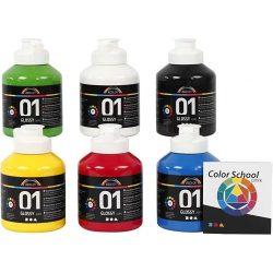 A-Color - Akrylmaling - Blank - (6 x 500 ml)