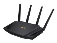 ASUS RT-AX58U - Trådløs ruter - 4-portssvitsj - GigE, 802.11ax - 802.11a/b/g/n/ac/ax - Dobbeltbånd