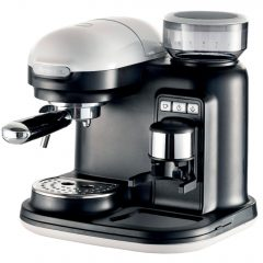 Ariete Moderna Espressomaskin med kaffekvern, hvit