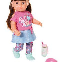 Baby Born Dukke Soft Touch Sister Brunette, 43 cm