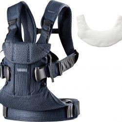 BabyBjörn One Air Bæresele 3D Mesh inkl. Smekke, Marineblå