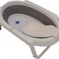 BabyDan Sammenleggbar Badebalje 30L med Badestøtte