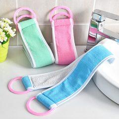 Back Cleaning Brushes Bath Belt Exfoliating Scrub Sponges Body Washcloth Bathroom Bath Scrubber Towel