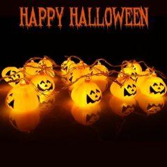 Battery Operated Skeleton Lantern Pumpkin Skull String Light LED for Halloween Party Christmas Decor