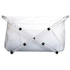 BibaBad Flexi Sammenleggbart Badekar Hvit/Hvit 70-90