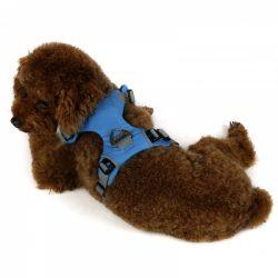 Blå solid comfort hundesele