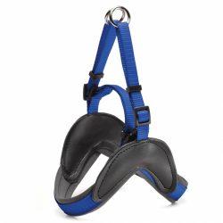 Blå stepin hundesele med padding