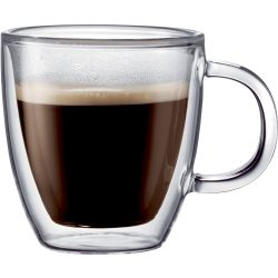 Bodum BISTRO dobbeltvegget espressoglass m. hank, 2 stk.